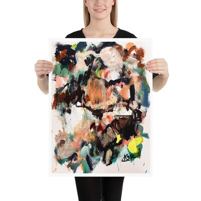 Abstract Art Poster by KBR; WILD JOURNEY, Spring Collection 2021