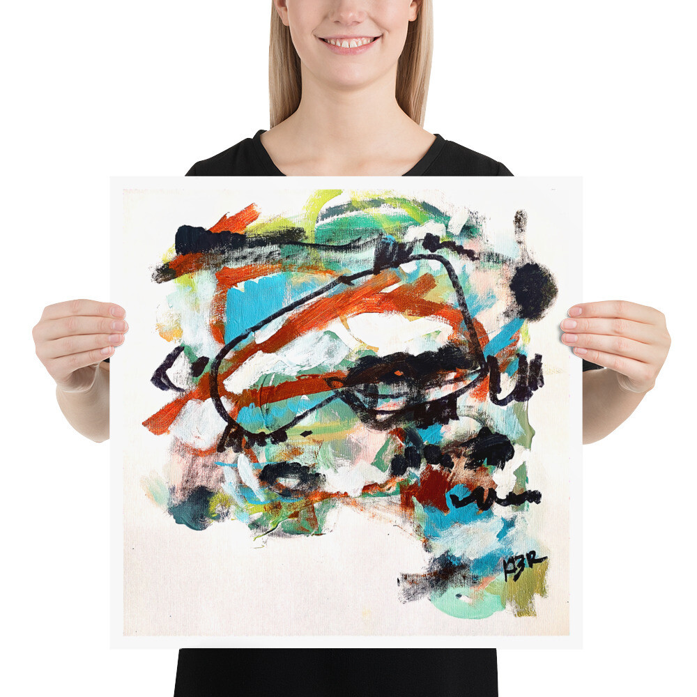 Abstract Art Poster by KBR; WANDER, Spring Collection 2021