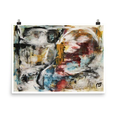 Untitled, abstract painting poster