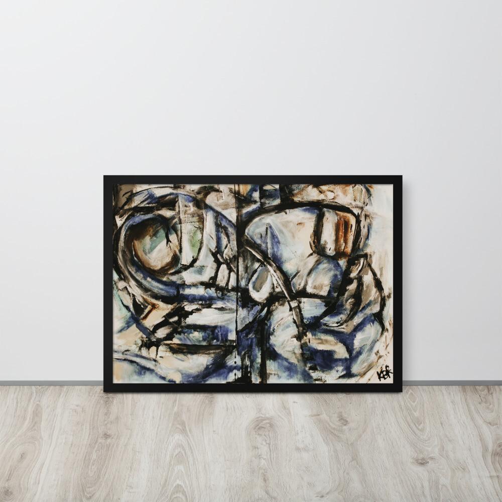 Blue Divide; Abstract Art