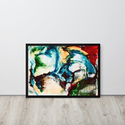 Cold Shoulder, Framed Abstract Artwork