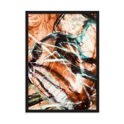Cave Light, Framed Abstract Art Poster