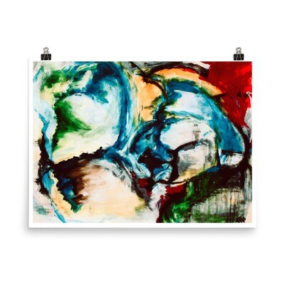 Cold Shoulder, Abstract Art Poster
