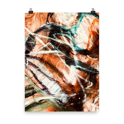 Cave Light, Abstract Art Poster