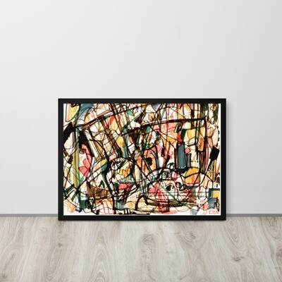 Abstract 44; Framed Abstract Art Poster