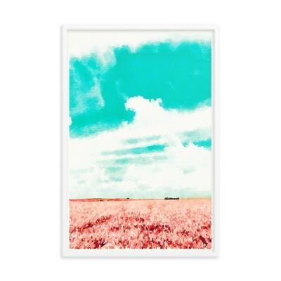 Waves; Framed poster