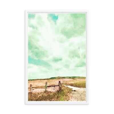 Uphill; Framed Art Print
