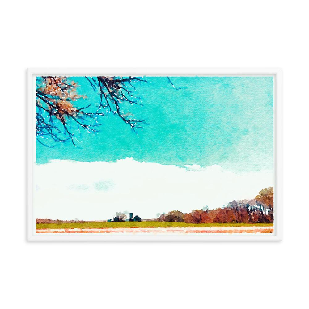 Valley Views; Framed Art Print