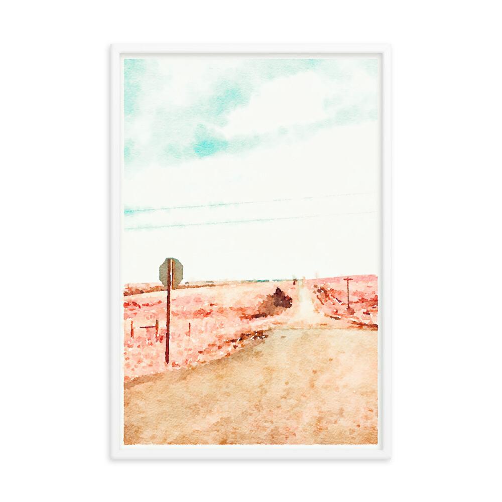 Up The Road; Framed Art Print
