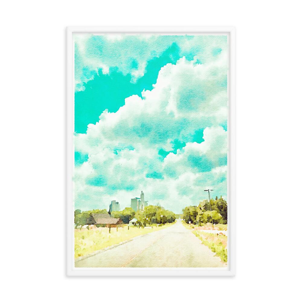 Trip To Town; Framed Art Print