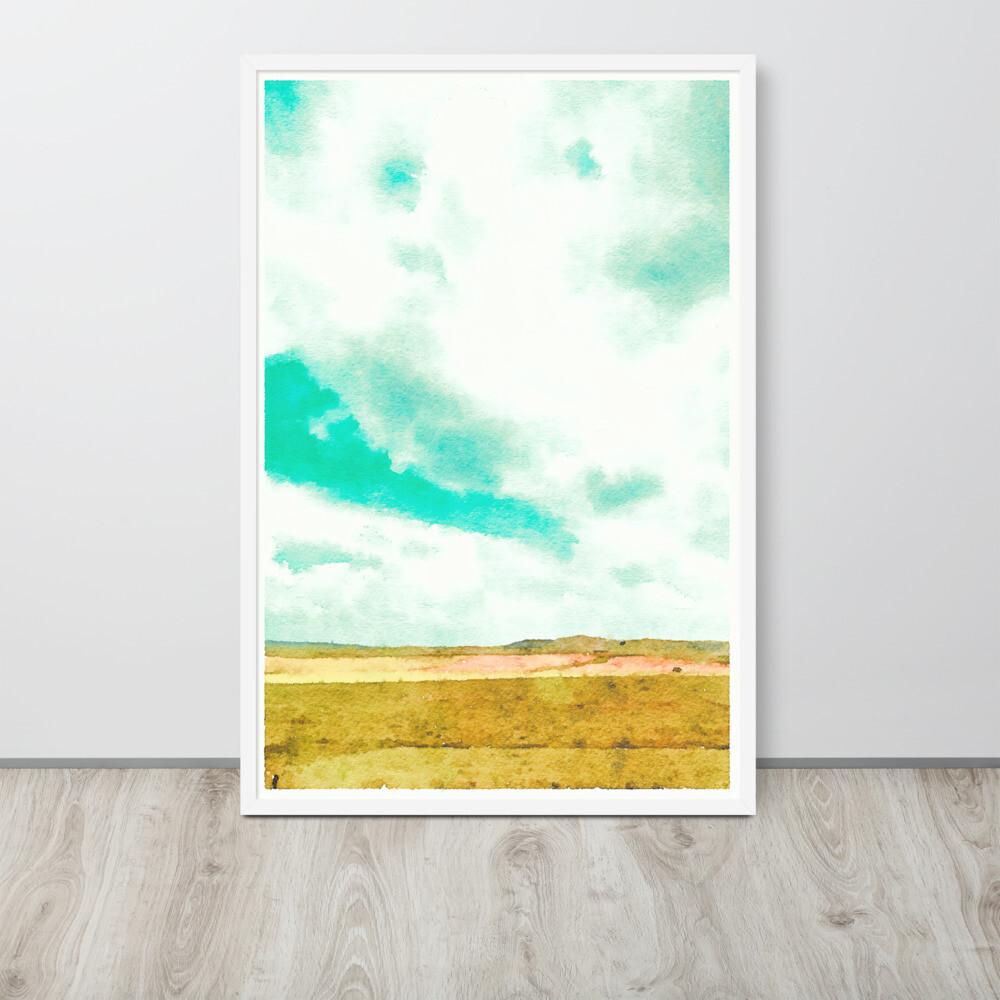 Sky Blue; Framed Art Print