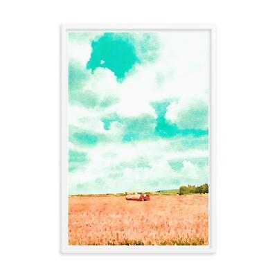 Haybale Light; Framed Art Print