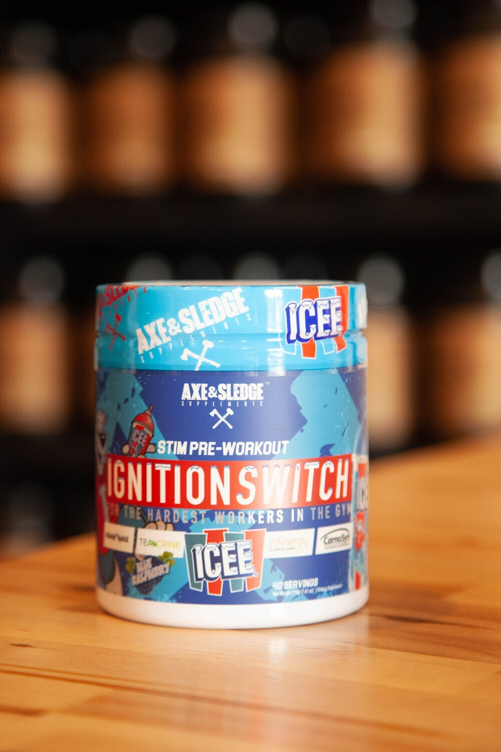 Axe & Sledge Ignition Switch (Blue ICEE)