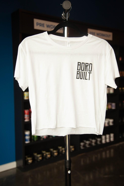 White Crop Top Shirt