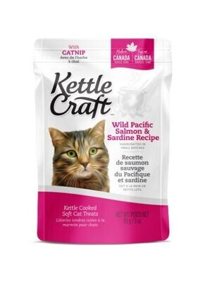 KETTLE CRAFT SALMON & SARDINES CAT TREATS 85G