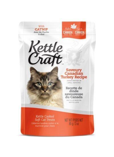 KETTLE CRAFT TURKEY CAT TREATS 85G
