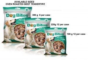 DOG BITES FD BEEF TENDERTIPZ 100G