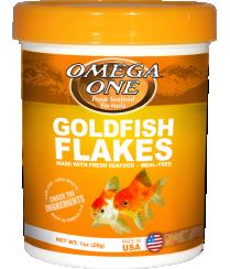 OMEGA ONE GOLDFISH FLAKES 1 OZ.