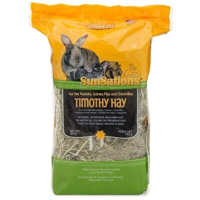 SUNSEED SPRING TIMOTHY HAY BALE 56 OZ