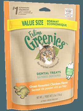 FELINE GREENIES CHICKEN  85GRAMS