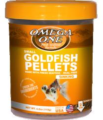 OMEGA ONE SMALL GOLDFISH PELLETS 8OZ