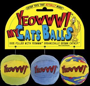 YEOWWW CAT BALLS 3 PKG