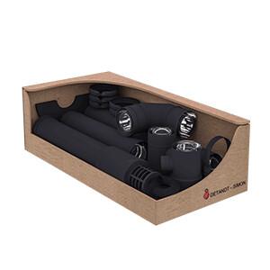 Twin-Biomass kit zwart TWIN BIOMASS RVS Ø80 mm SPECIAAL PELLET