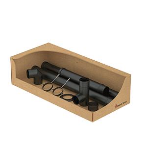 Zwart geëmailleerde staal dubbelzijde kit  Ø80