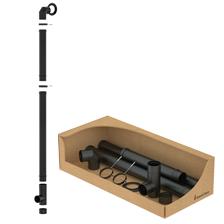Zwart geëmailleerde staal dubbelzijde kit  Ø100