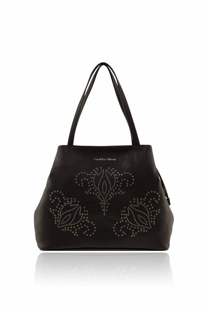 Black flower Handtas