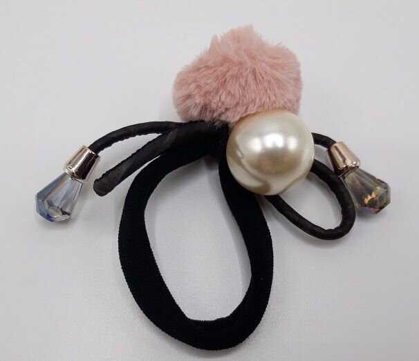 Haarrekker Roze Pompon