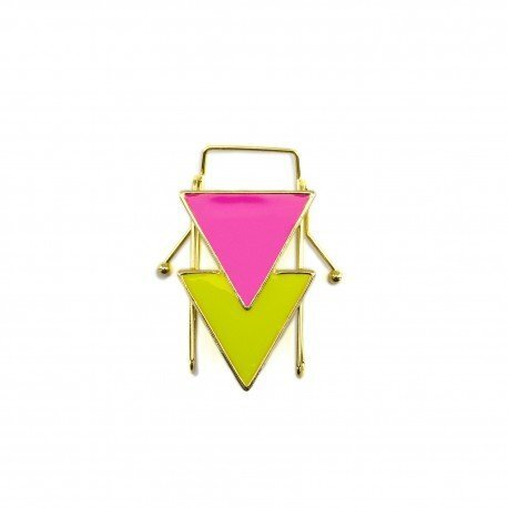 Two Triangles Fluo Gold