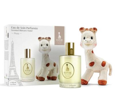 Geschenk Set Sophie La Girafe L'eau de soin parfumée.