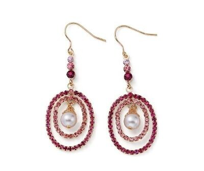 Roze oorbellen hanger