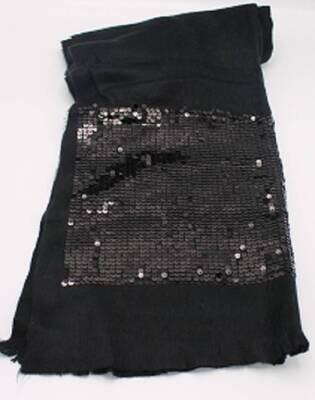 Black Pailleten Sjaal