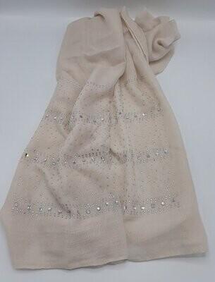 Beige & Strass sjaal
