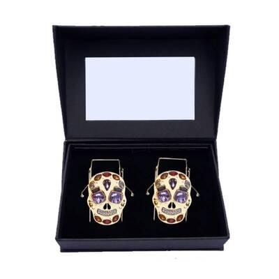 Skull Crystal - Gold, Clip n Go