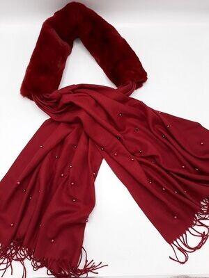 Sjaal Rood Fur
