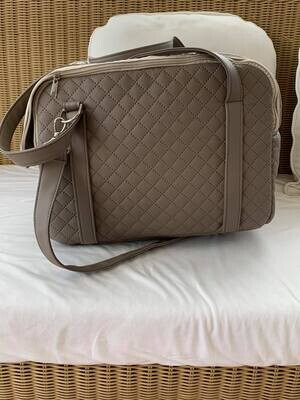 Carol Quilted Taupe