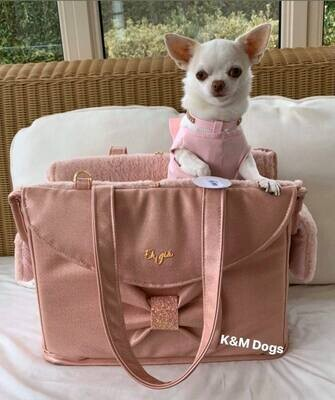 Califo Pink passengerbag with bow