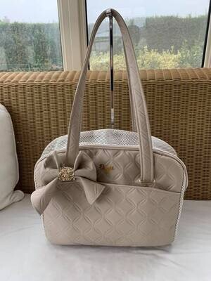 Life bag Quilted Beige with bow