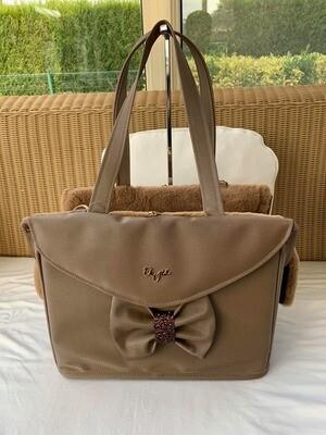 Passengerbag Liquidiza -camel with long handles