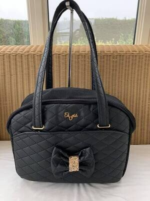 Quilted Black with tiger life bag