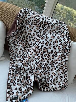 Blanket persian Leopard Bruin