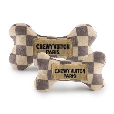 Chewy vuiton checker bone -small