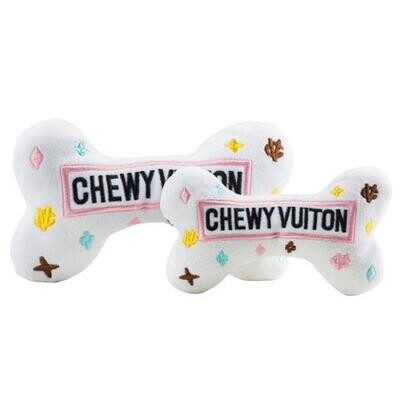 White Chewy Vuiton Bone Toy-small