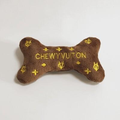 Chewy Vuiton Bone Parody Plush