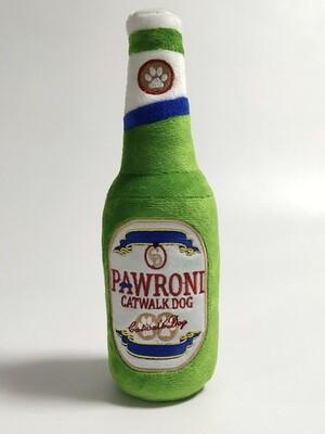 Pawroni beer bottle toy