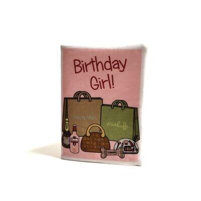 Verjaardagskaart Pink Shopping Trip