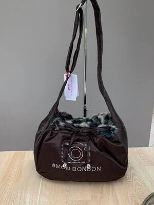 influence shoulderbag brown with leo brown